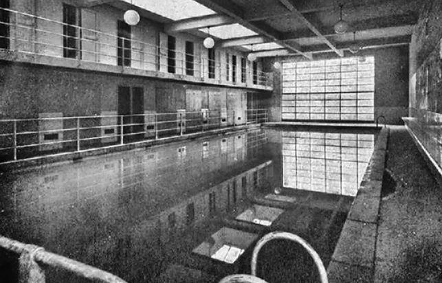 Una imágen histórica del gimnasio Sant Pau