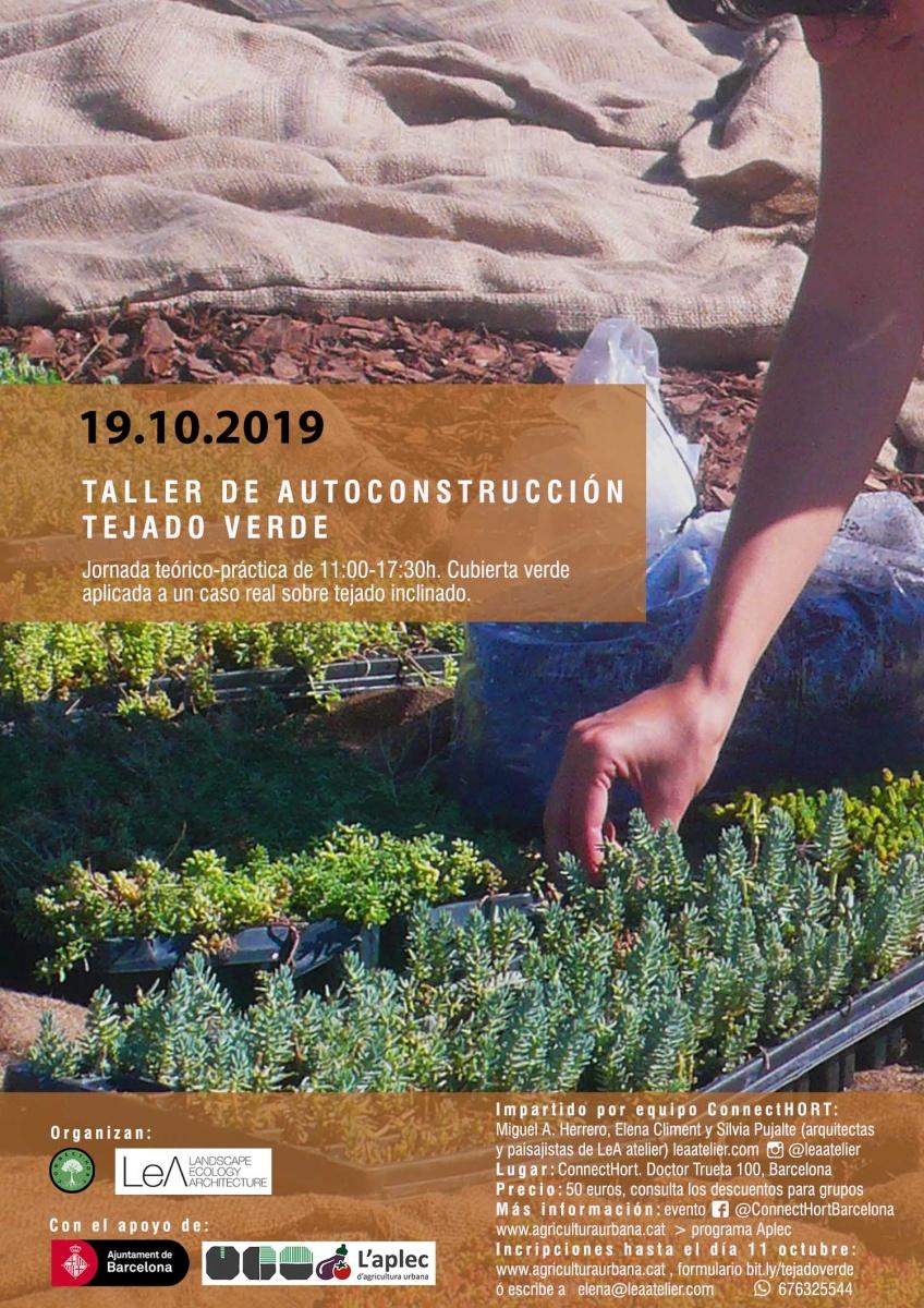 cartel taller autoconstrucción tejado verde