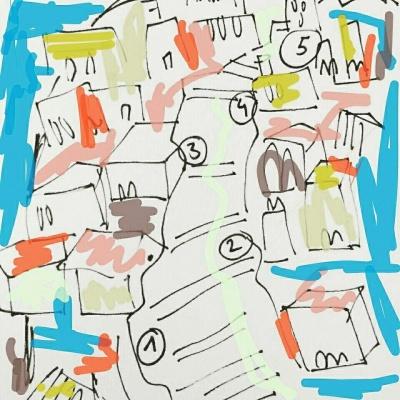 Dibujo sobre El Risco de San Nicolás